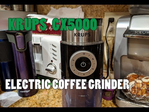 Krups GX5000 Burr Coffee Grinder - One of the BEST and most AFFORDABLE Burr Coffee Grinders