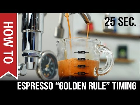 How To: Espresso Shots - When to Start Timing