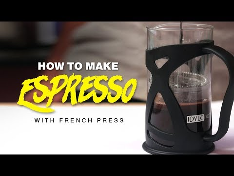Espresso Coffee Using French Press Simple Way of Make Black Coffee without Sugar