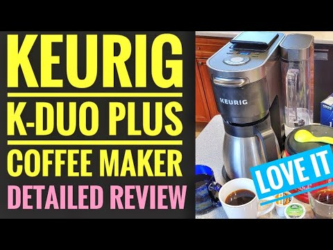 DETAILED REVIEW Keurig K-Duo Plus Coffee Maker K-Cup Machine HOW TO MAKE COFFEE