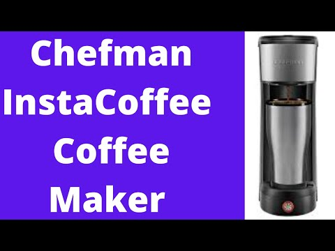 Chefman InstaCoffee Single Serve Coffee Maker Brews in 30 Seconds Compatible with K-Cup Pods