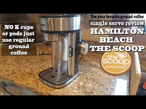 Single serve coffee maker review / Hamilton Beach The Scoop review
