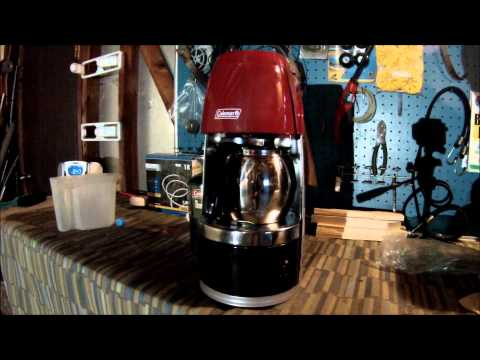 Coleman Propane Coffee Maker - First Use