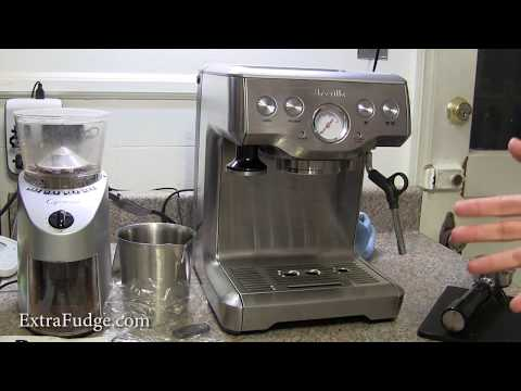 """Review and demo for the Breville BES840XL """"the Infuser"""" Espresso Machine and pump replacement tip"""